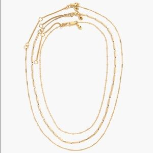 Madewell choker necklace trio set